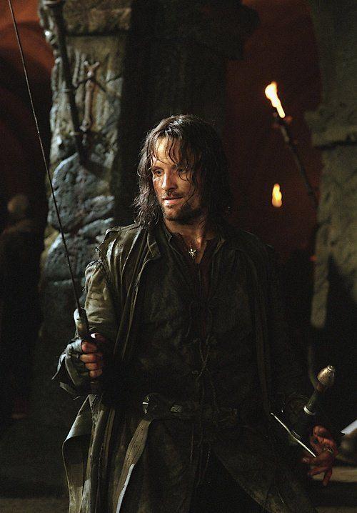 Aragorn Longshanks, 'Strider', 'Elessar'. The King.