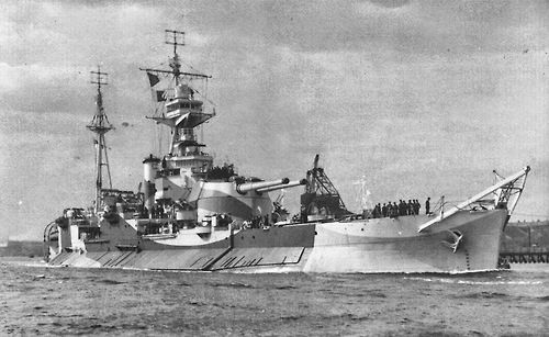 HMS Abercrombie was a Royal Navy Roberts class monitor of the WWII. HMS Abercrombie was built by Vickers Armstrong, Tyne. She was laid down April 26, 1941, launched March 31, 1942 and completed May 5, 1943. She used a 15-inch gun turret originally built as a spare for HMS Furious.