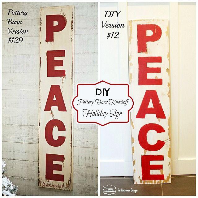 Diy Pottery Barn Knockoff Holiday Peace Sign Pottery