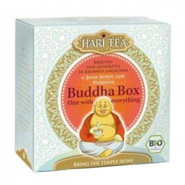 Buddha Box ~ A lucky teabox with a selection of ayurvedic Hari Tea