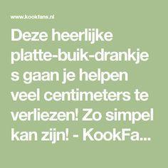 Deze heerlijke platte-buik-drankjes gaan je helpen veel centimeters te verliezen! Zo simpel kan zijn! - KookFans.nl