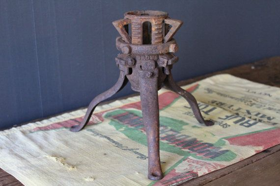 Antique Cast Iron Christmas Tree Stand Victorian by MadGirlRetro