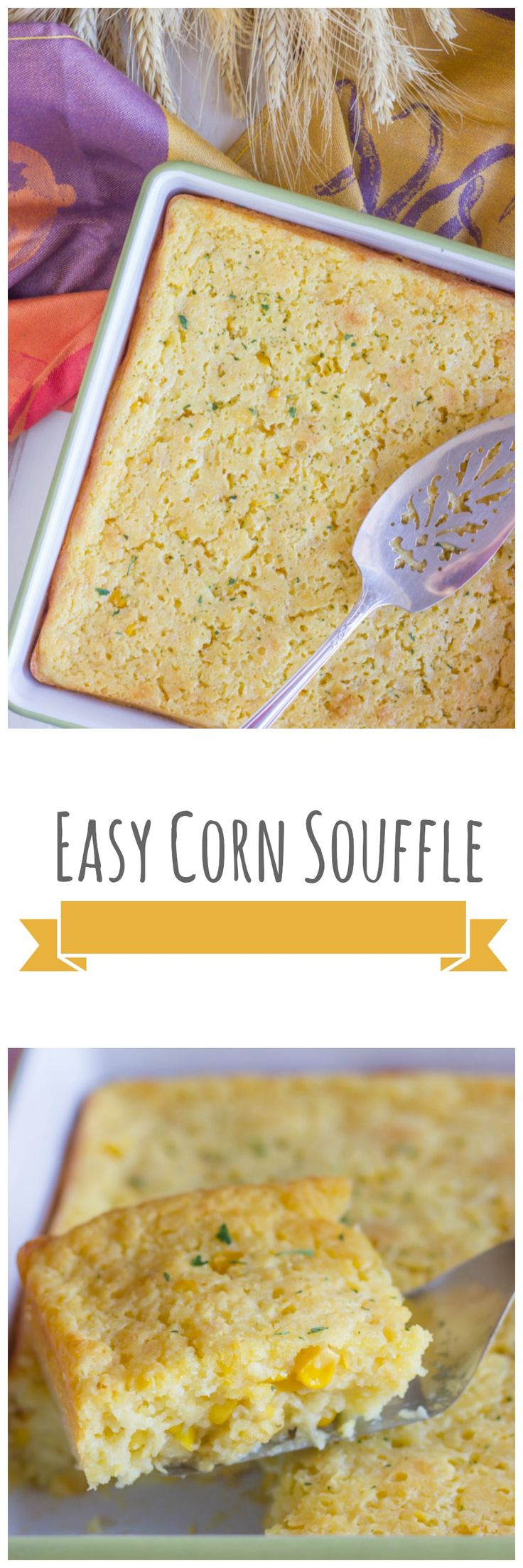 Super quick and easy corn souffle!