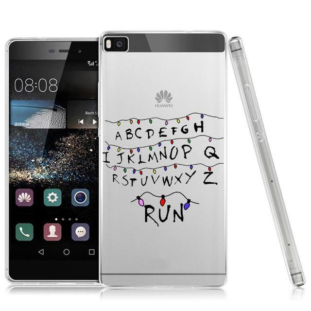 Phone Cases For Huawei Ascend P8 Lite P9 P9 Lite P10 Plus Stranger Things Christmas Lights Transparent Phone Cover Coque Case