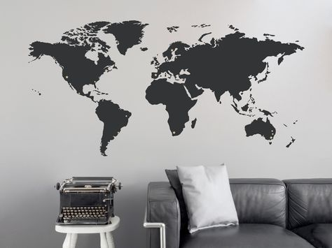 World Map Wall Decal With Stars For Places Travelled Part 32