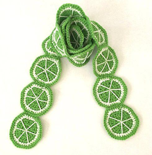 Lime slice crochet scarf PinkFrog4u Amazon.com: #Green Crochet #lime #kitsch #slice #food #fruit #scarf #scarves from #PinkFrog4u #handmadeatamazon #christmas #gifts #christmasgifts #smallbizsaturday #shopsmall #madewithlove #scarf #scarves #kawaii #kawaiilife #kawaiistyle #cutescarf #winter #fall #stockingstuffer #green #limegreen