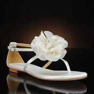 Feminine flat wedding shoe! Zowie by Badgley Mischka