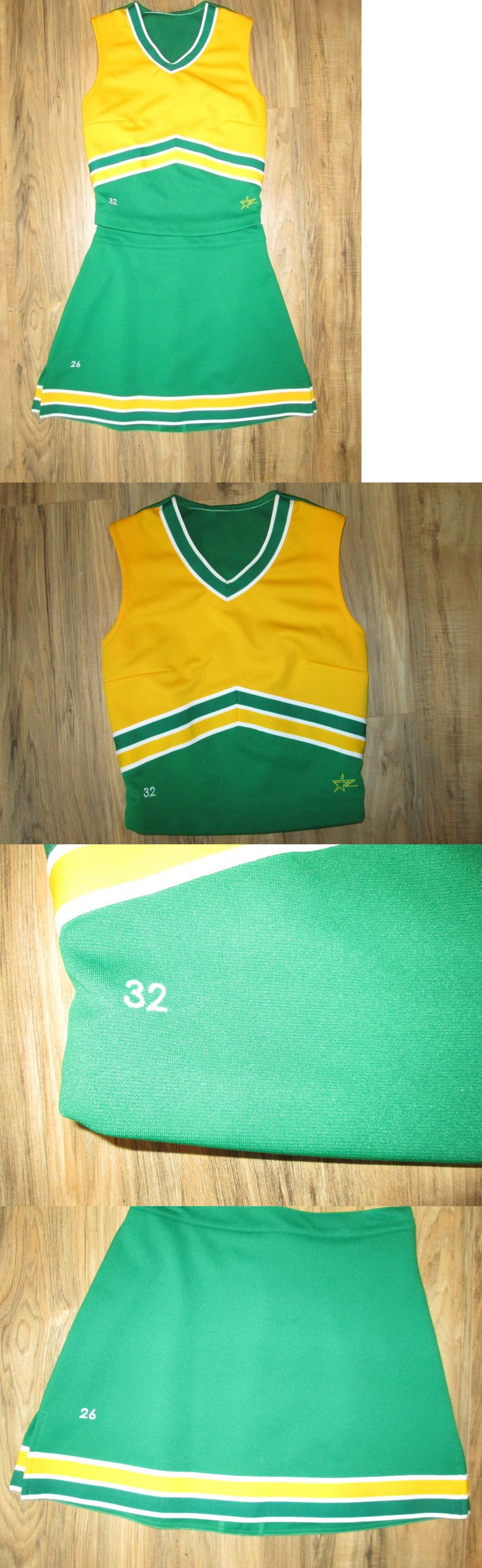 Cheerleading 66832: New Kelly Green Gold Cheerleader Uniform Cheer Outfit Costume 32/26 Cheerleading -> BUY IT NOW ONLY: $30.0 on eBay!