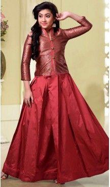 Maroon Color Jecard Silk,Tafeta Silk Party Wear Girls Salwar Kameez | 11142454 Follow us @heenastyle #design #designer #fashion #dresses #girlsdresses #children #childrensapparel #indiella #wedding #girlsfashion #girl #girlsstyle #girlsparty #partydress #kids #kidsstyle #kidsfashion #dress #designerkidz #longsleevedress #onlineshopping #girlssummerdress #girlswear #buyhandcrafted #buybritishbrands #heenastyle #girlssalwarkameez #kidssalwarkameez