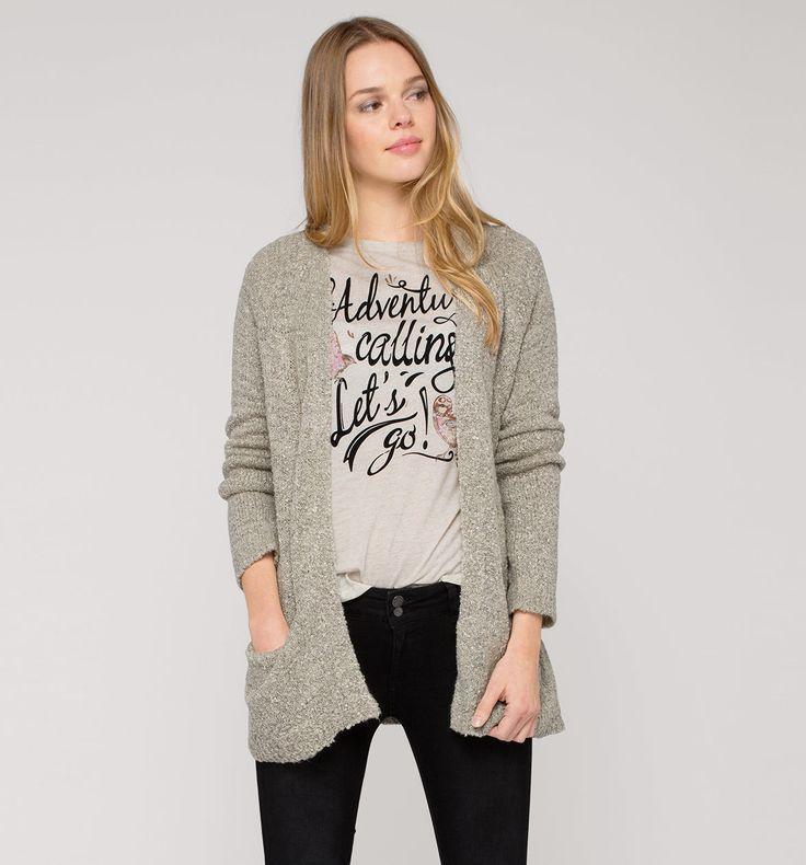 Sklep internetowy C&A   Sweter rozpinany, kolor:  jasnoszary   Dobra jakość w niskiej cenie