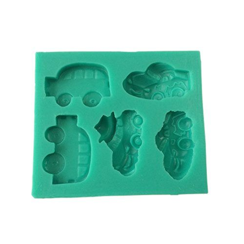 Yunko Cute Car School Bus Vehicles Shape Fondant Mold Chocolate Silicone Candy Mold Fondant Cake Decoration Fudge Mold *** Check this awesome product by going to the link at the image.(This is an Amazon affiliate link)