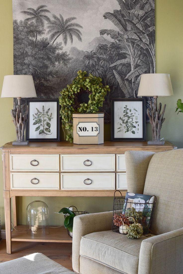 Urban Jungle: Deko fürs Wohnzimmer im Herbst im Botanical Style. Opulent, Gemütlich und eklektisch. Dekoidee, Interior, Einrichtung, Dekoration #homedecor #botanical