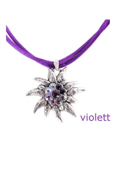 Traditional necklace K95 edelweiss many colors
