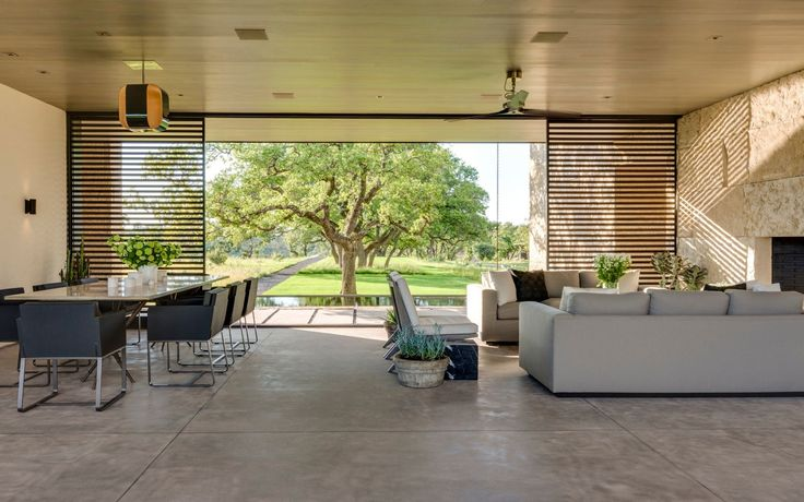 modern living room at ranch