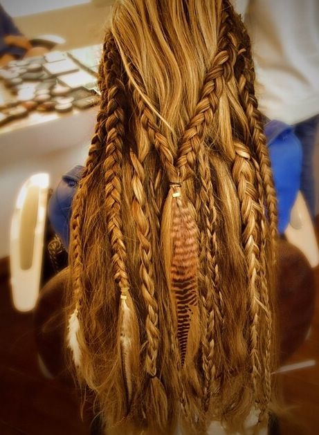 Perfect boho style hair