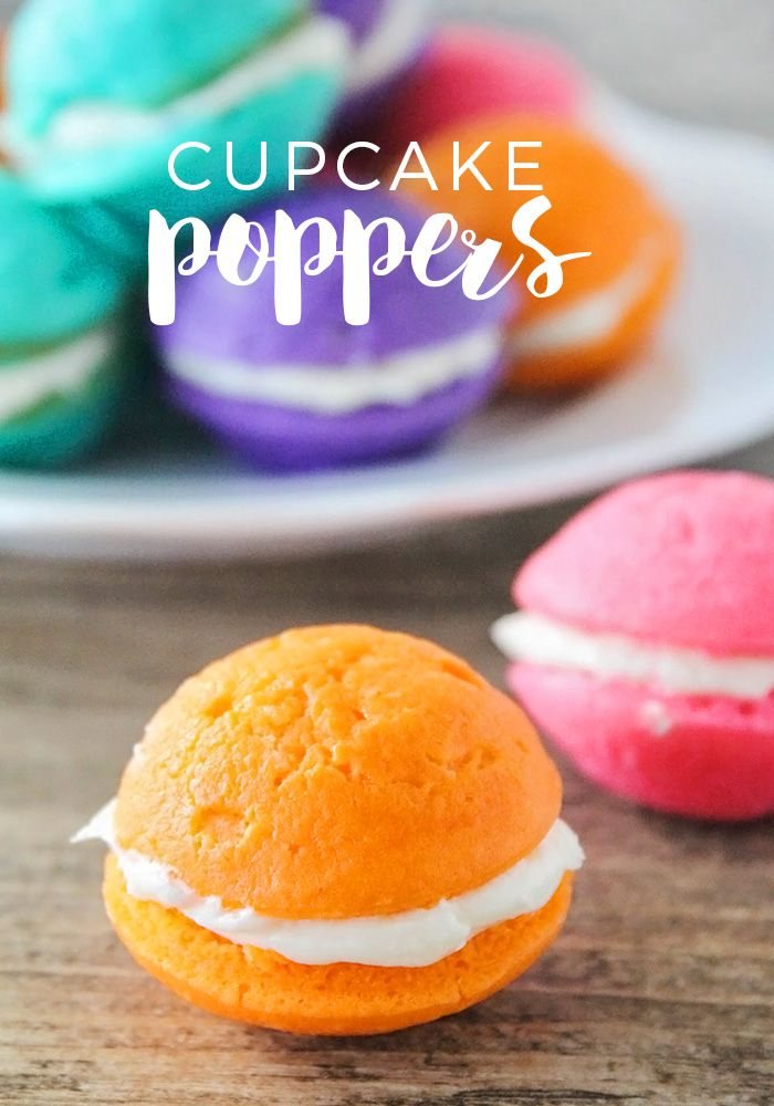 Add some fun to your celebrations with these colorful mini cupcake poppers!