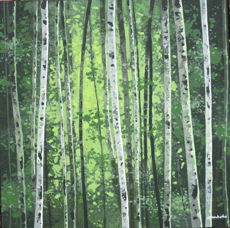 birch tree forest. johan botha