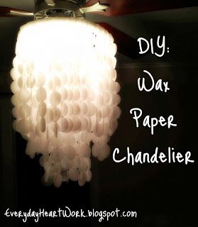 Wax Paper Chandelier For Trees Outside