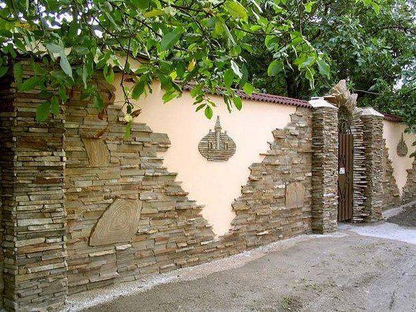 Как сделать каменный забор: технология строительства   Дачный сад и огород
