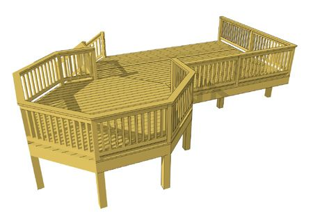 Deck plans free deck plans and decks on pinterest for Octagon deck plans free
