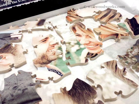 Wedding Photo Guest Book Puzzle 10-50 Pieces Size par WallWoodworks