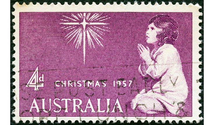 YEARLY CHRISTMAS STAMPS - Australia was the first country to issue regular Christmas stamps each year beginning in November 1957. In recent years Christmas stamps have alternated in theme between the religious and secular.