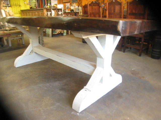 Live Edge Farmhouse Dining Table De Barrio Antiguo Houston Texas 713880 2105