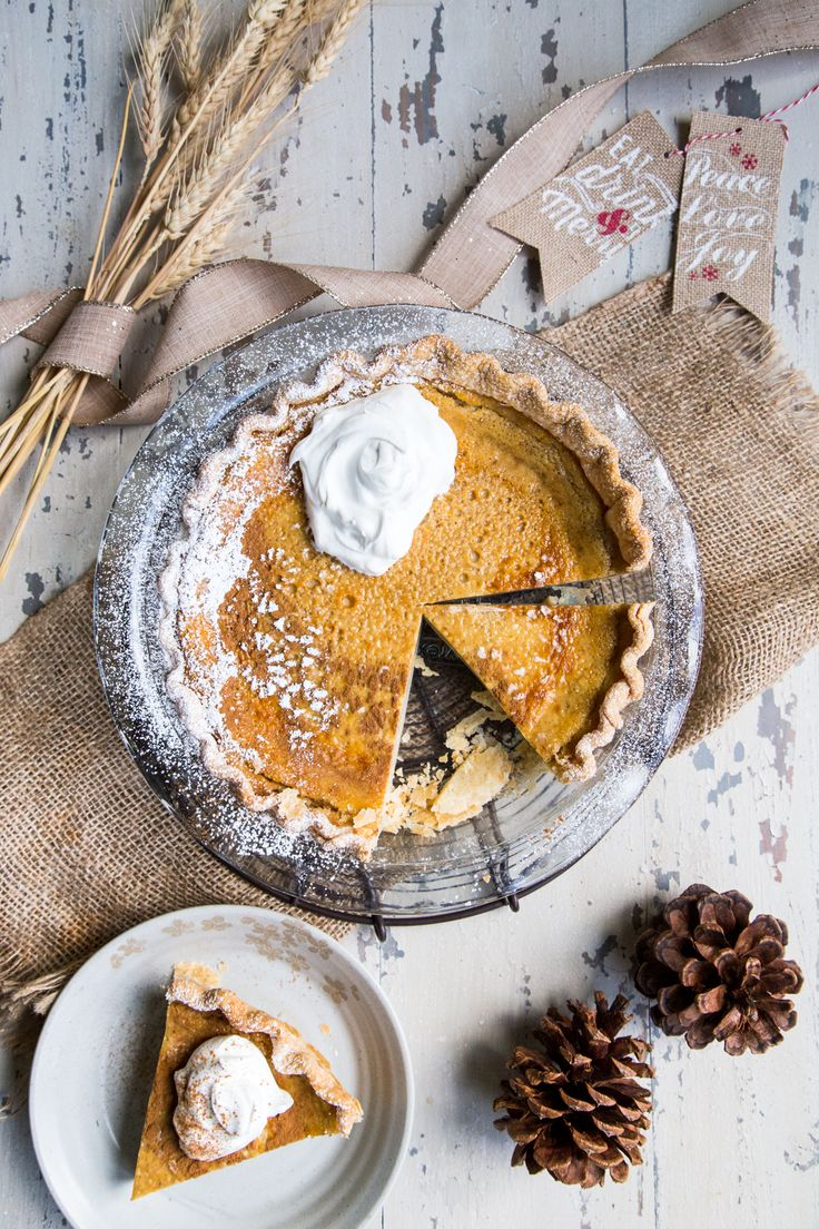 If you need another vehicle in which to transport the abundance of the season's eggnog right into your mouth – this pie is it! Silky and soft egg custard is key to this eggnog custard pie! It's simple to make, and filled with all the spices and flavors of the season!