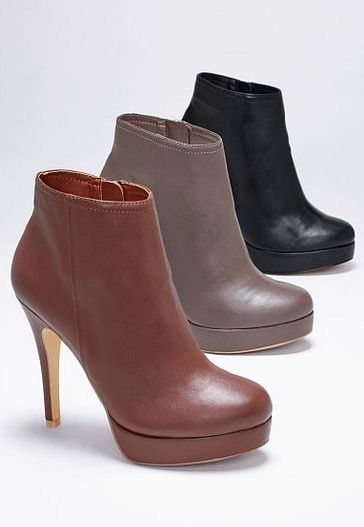 platform booties. i'll take a pair in each color, please! #fallfashion