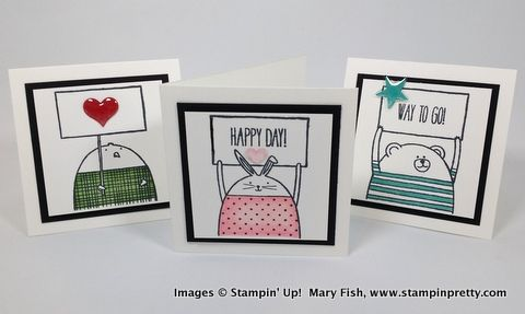 Stampin up stampin' up! stamping stampinup mary fish pretty cheerful critters 5