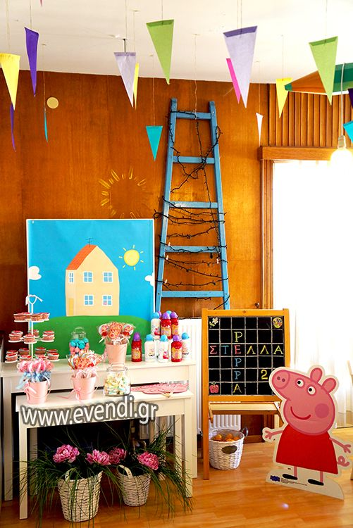 Peppa pig party candy bar