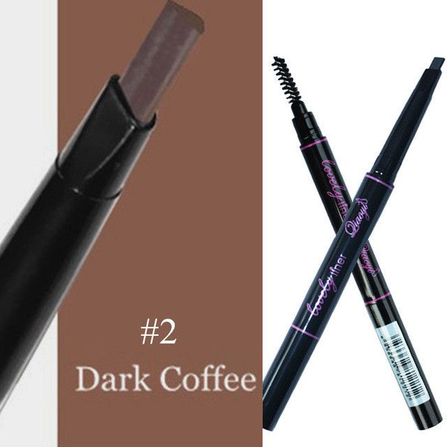 1 PC 5 Colors Women Lady Triangle Waterproof Eyebrow Pencil Eye Brow Pen With Brush Make-Up Tools