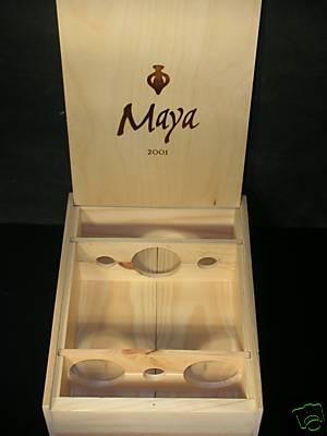 Maya 3 Bottle Flip-top Wooden Wine Case