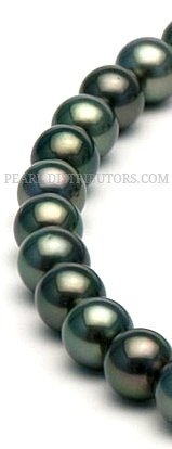 round Tahitian pearl necklace