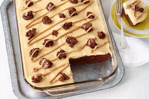 Peanut Butter Poke Cake Brownies Recipe - Kraft Recipes
