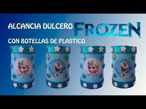 COMO HACER DULCERO ALCANCIA  CON BOTELLAS DE PLASTICO - YouTube