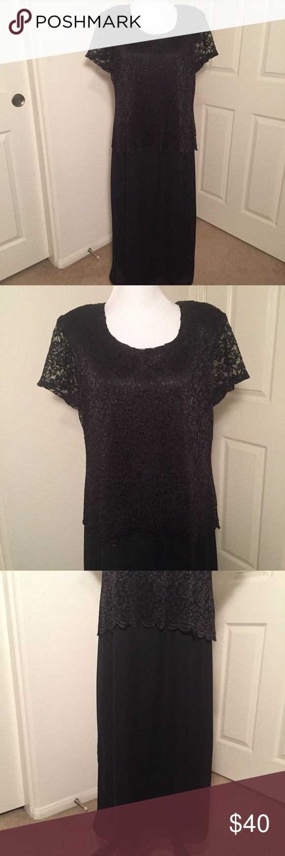 Petite Black Dress Helene Blake Black dress. Petite Size 14. Sleeves are sheer. Top has a nice lacey texture over the dress. Shoulder pads. Vintage dress. Excellent condition. 100% Polyester. Smoke free and pet free home. Bundle 2 or more items and get 15% off! Offers welcomed! 🙌 Helene Blake Dresses