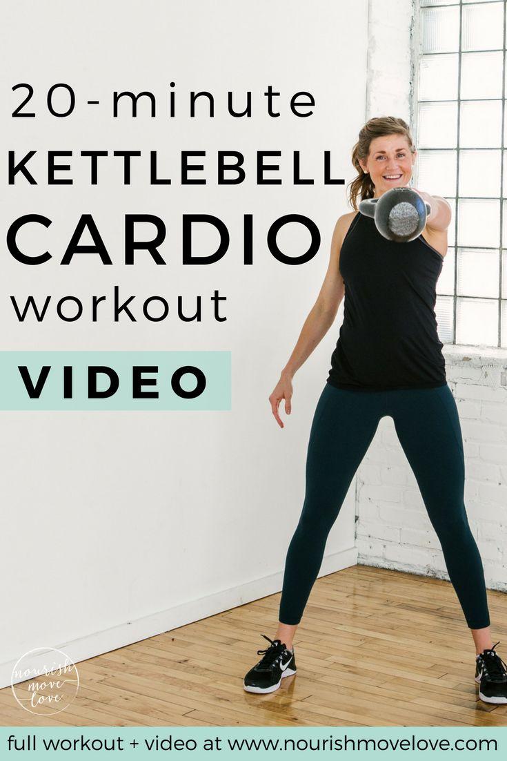 20-Minute Kettlebell Cardio AMRAP Workout | kettlebell exercises I kettlebell workout I kettlebell workout for women I cardio workout I 20 minute workout I amrap workout II Nourish Move Love #kettlebell #kettlebellworkout #cardio