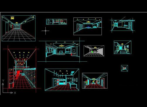 3d Wire Frame Perspective Free Autocad Drawing Cad Blocks