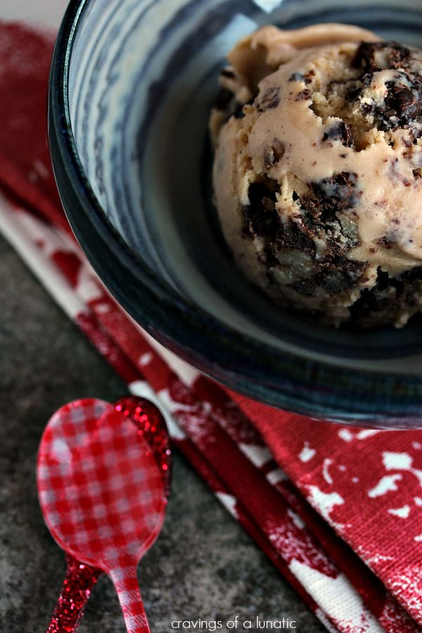 Chunky Turtle Ice Cream | Salted caramel ice cream loaded with toasted pecans and chocolate. This ice cream has become a family favourite.