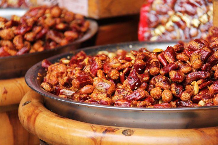 Gebrannte Nüsse mit Heißluft