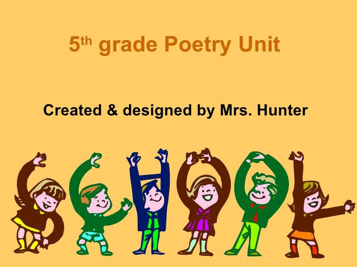 5th grade poetry unit