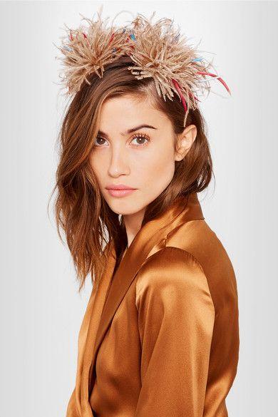 Eugenia Kim   Mariko feather-embellished headpiece   NET-A-PORTER.COM