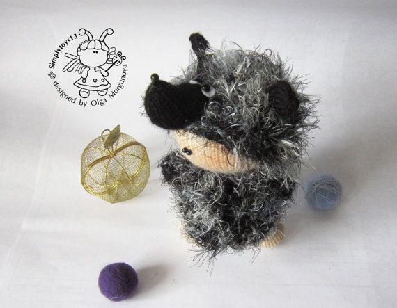 Pebble doll Hedgehog  knitting pattern knitted by simplytoys13