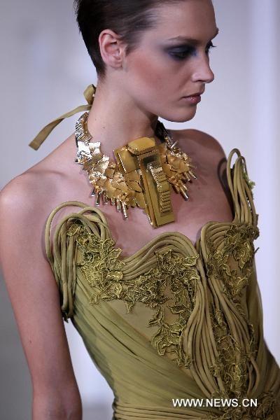 Lebanese designer Basil Soda during Haute Couture Spring-Summer 2011