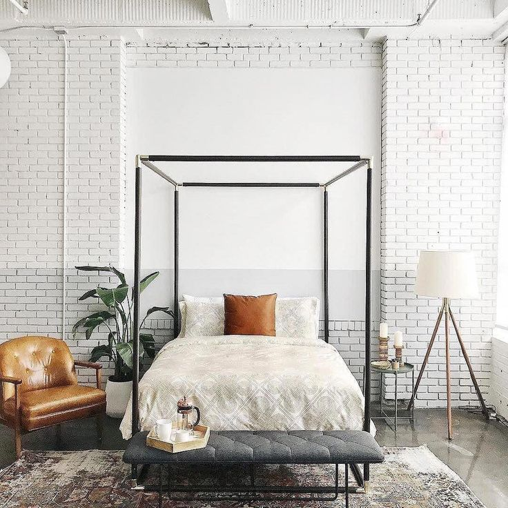 room crush wednesday ♡ link in bio to shop CB2 Canopy Bed