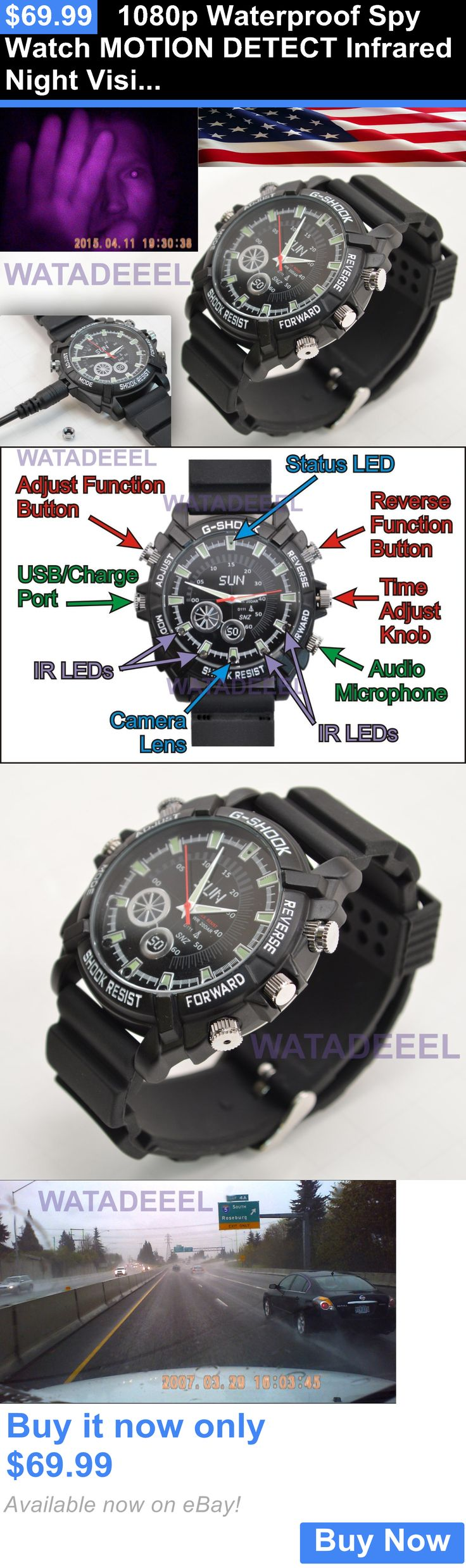 Other Home Surveillance: 1080P Waterproof Spy Watch Motion Detect Infrared Night Vision Camera Video Ir BUY IT NOW ONLY: $69.99