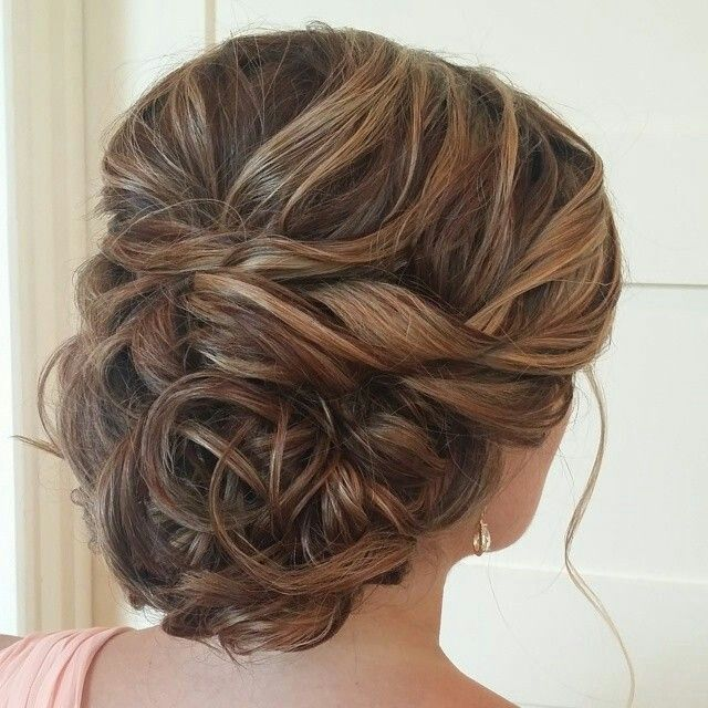 Bridal Hair Style Idea  - I'd say not quite messy! Gorgeous curly up-do