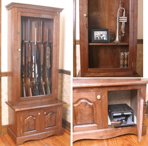 Simple Wooden Gun Cabinet Plans Woodworking Projects Amp Plans