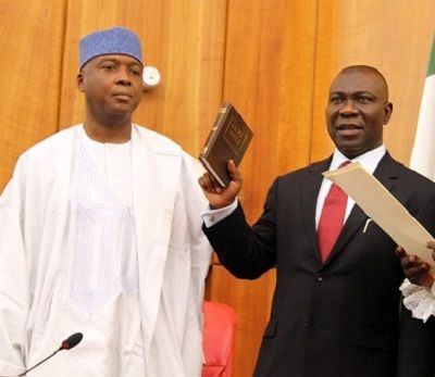 Federal Government Withdraws Forgery Charges Against Saraki and Ekweremadu   The Federal Government of Nigeria has filed a motion to withdraw the charge of criminal conspiracy against Senate President Bukola Saraki and his Deputy Ike Ekweremadu.  An affidavit in support of the motion was filed before the High Court of Federal Capital Territory on Thursday by a litigation officer from the Federal Ministry of Justice Odubu Loveme. Messrs. Saraki and Ekweremadu as well as a former Clerk of the…